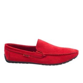 Rote elegante Mokassins AB96K-2