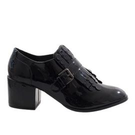 Schwarze Lack High Heels PZY-02