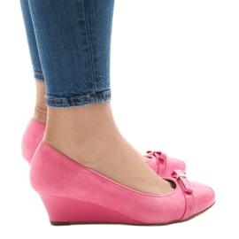 Pink Rosa Wildlederpumps auf Keilabsatz 50987