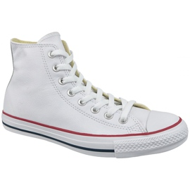 Weiß Converse Chuck Taylor All Star Hallo Leder bei 132169C