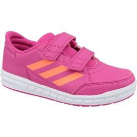 Pink Adidas Jr. BB3301 Schuhe ButyModne.pl