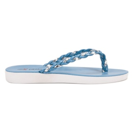 Seastar Blaue gewebte Flip-Flops