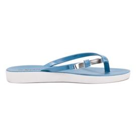 Seastar blau Flip-Flops Mit Schleife