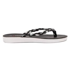 Seastar Schwarze geflochtene Flip-Flops