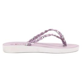 Seastar lila Violett geflochtene Flip-Flops