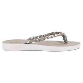 Seastar Grau gewebte Flip-Flops