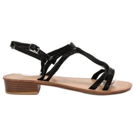 SHELOVET Sandalen in den Fersen schwarz