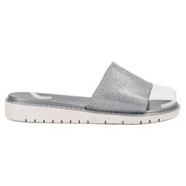 Fashion grau Modische glänzende Flip Flops