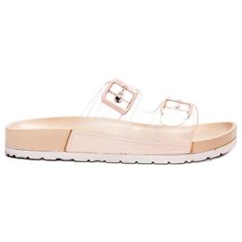 Ideal Shoes braun Transparente Klappen Se Schnalle
