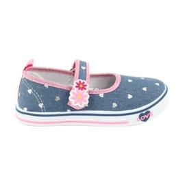 American Club marine Sneakers Sneakers Mädchen amerikanische Pailletten