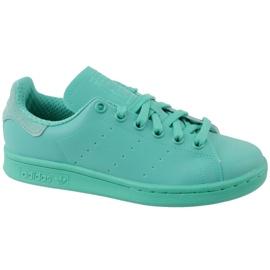 Blau Adidas Stan Smith Adicolor Schuhe W S80250