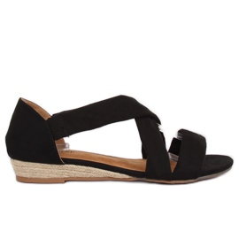 Sandalen Espadrilles schwarz 9R72 Schwarz