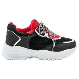 SHELOVET Modische schwarze Sneakers