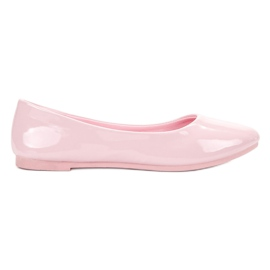 Pink Lackierte VICES Ballerinas