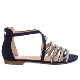 Sandalen Damen Marineblau LL6339 Blau