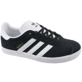 Schwarz Adidas Gazelle Jr BB2502 Schuhe