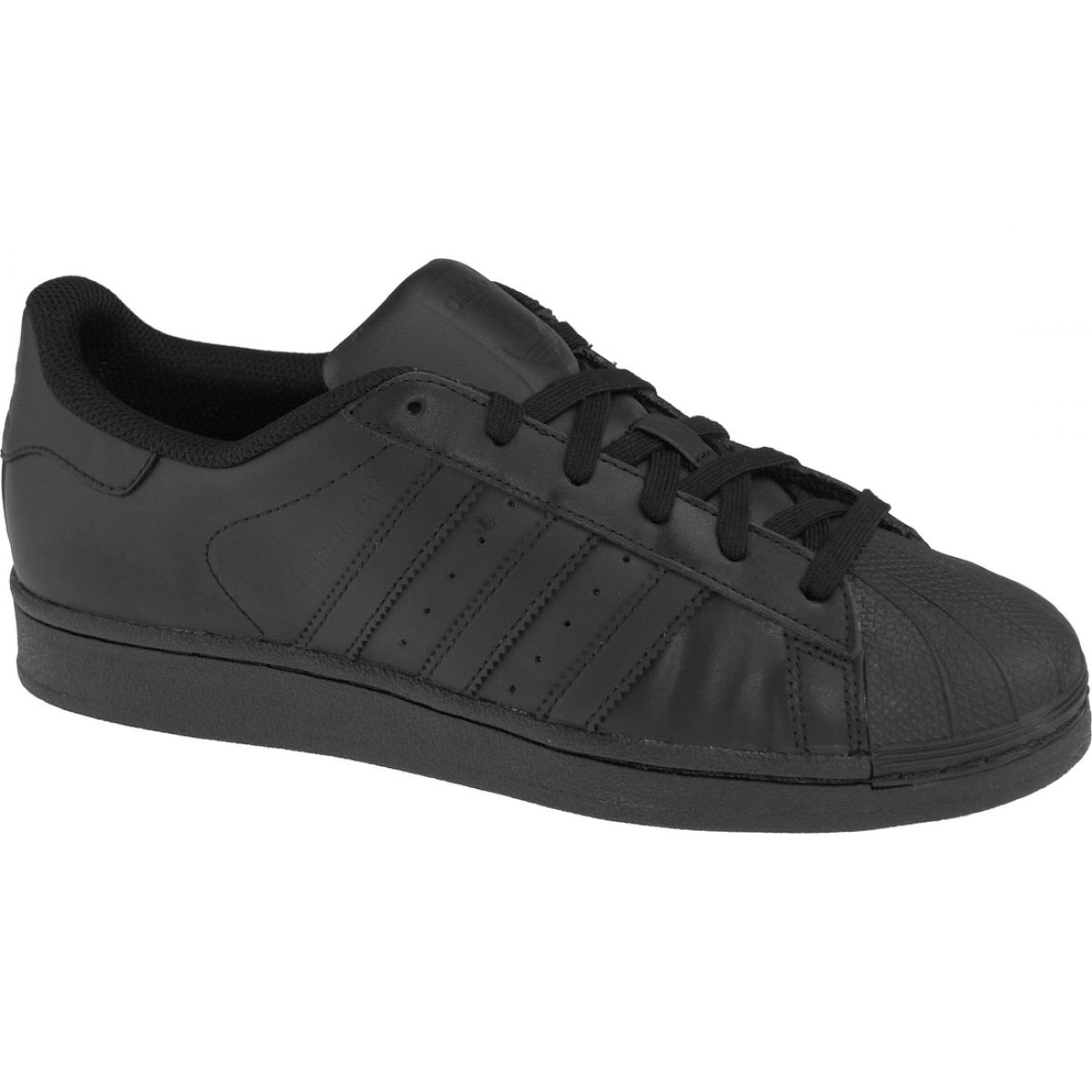 Schwarz Adidas Superstar J Foundation Jr B25724 Schuhe