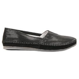Filippo Schwarzes Leder Sneakers Slip