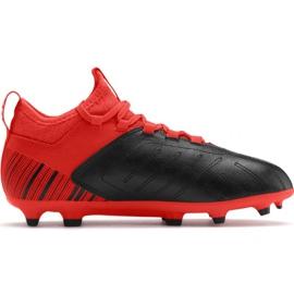 Fußballschuhe Puma One 5.3 Fg Ag JR105657 01 rot schwarz schwarz, rot