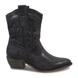 Graue Cowgirl Stiefel 10601-1