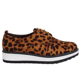 Mokassins für Frauen Leopard C-7225 Leopard Print braun