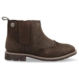 Hochisolierte Schuhe Verknotet 4682 Braun