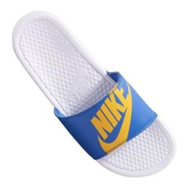 Blau Nike Benassi Jdi Print 631261-104 Hausschuhe