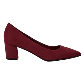 Small Swan Bequeme Wildlederpumps rot