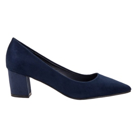 Small Swan blau Bequeme Wildlederpumps