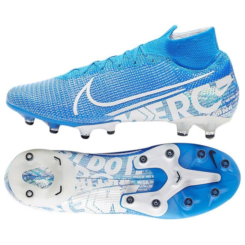 Superfly Blau Elite 414 Mercurial Schuhe Weiß 7 Nike Ag Pro At7892 M 5L4RAj