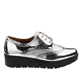 Silberne Schnürschuhe TL-60 grau