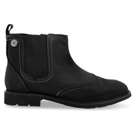 Hochisolierte, tief gebundene Schuhe 4682 Schwarz