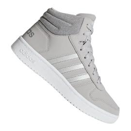 Grau Adidas Hoops Mid 2.0 K Jr F35796 Schuhe