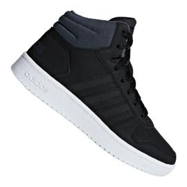 Schwarz Adidas Hoops Mid 2.0 K Jr F35797 Schuhe