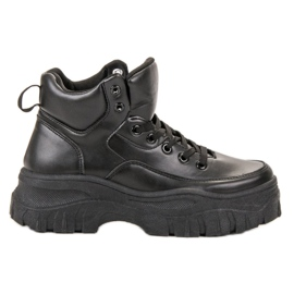 Kylie schwarz Geschnürte Schuhe Auf Der Plattform