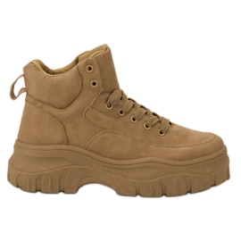 Kylie braun Geschnürte Schuhe Auf Der Plattform