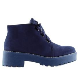 Stiefel Damenschuhe dunkelblau LL219 Blau marine
