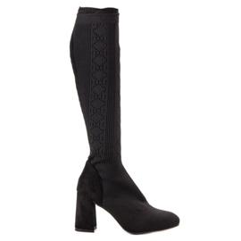 Seastar Schwarze durchbrochene Stiefel