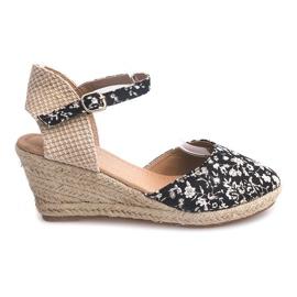 Sandalen mit Keilabsatz 50427 Beige