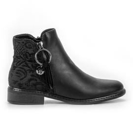 Filippo schwarz Stilvolle Reißverschluss Stiefel