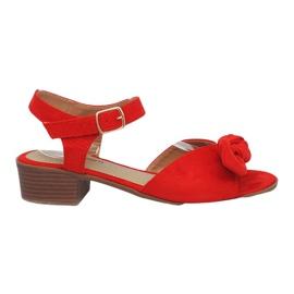 Rote Noemia Sandalen mit hohen Absätzen