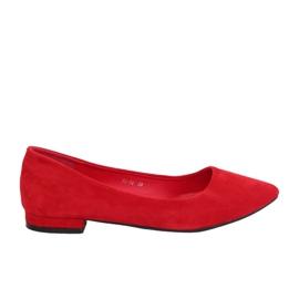 Ballerinas mit Mandelzehen rot RC-76 Rot