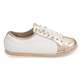 Gelb Leinen Sneakers Espadrilles Q52 Gold