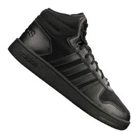 Schwarz Adidas Hoops 2.0 Mid M B44649 Schuhe
