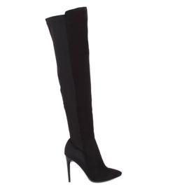 Schwarz Overknee Stiefel schwarz 0H010 Schwarz
