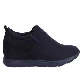 Schuhe auf einem versteckten Marinekeil ZY-7K67 Blau