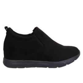 Schuhe auf einem versteckten Keil schwarz ZY-7K67 Black