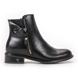 Schwarz VINCEZA Zipper Boots