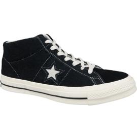 Converse One Star Ox Mid Vintage Wildleder M 157701C Schuhe schwarz