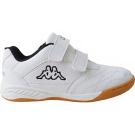 Weiß Kappa Kickoff Jr 260509K 1011 Schuhe